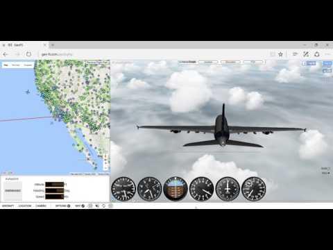 Geo-fs crash landing into the pacific ocean off LA