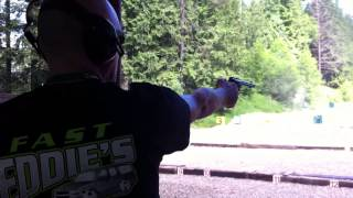shooting a variety of revolvers one handed 3 57 magnum 44 magnum 45 colt 50 cal