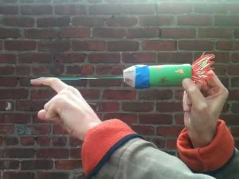 Rubber band rocket youtube for How to make a cheap rocket