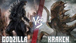 Годзилла (Godzilla) vs Кракен (Kraken) - Кто Кого? [bezdarno]