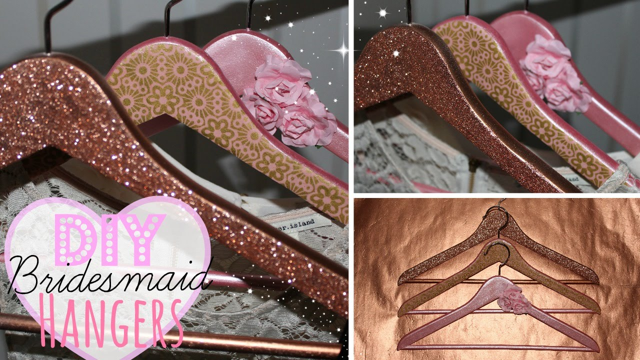 Diy Bridesmaid Hangers Easy Affordable Wedding Series