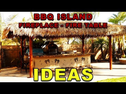 BBQ Islands  - Outdoor Fireplace Ideas  -  Extreme Backyard Designs