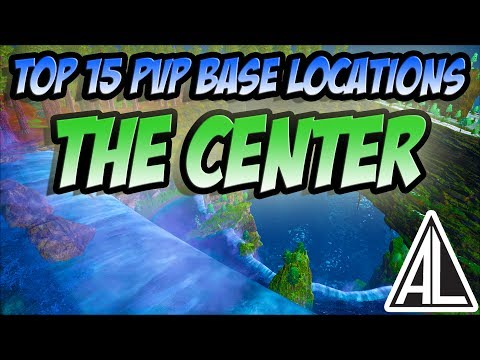 Ark Survival Evolved - Top 15 PVP Base Locations on The Center