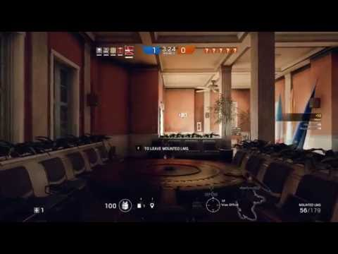 Tachanka's Special ability at work
