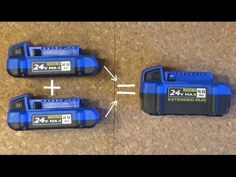 DIY tool hack: Turn two compact power tool batteries into a single high capacity battery
