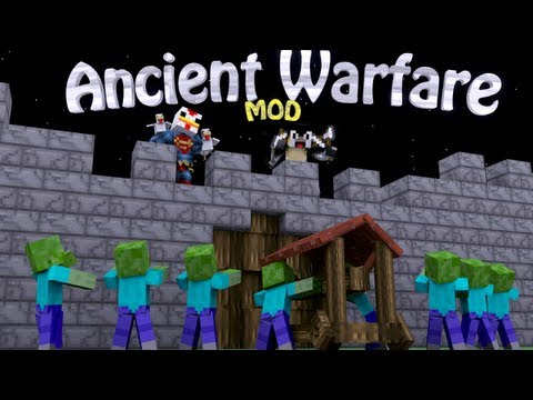 War Mod: Minecraft Ancient Warfare Mod Showcase - 8 Siege Weapons!