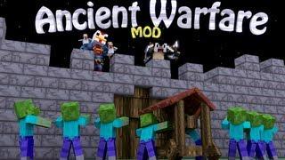 War Mod: Minecraft Ancient Warfare Mod Showcase - 8 Siege Weapons!