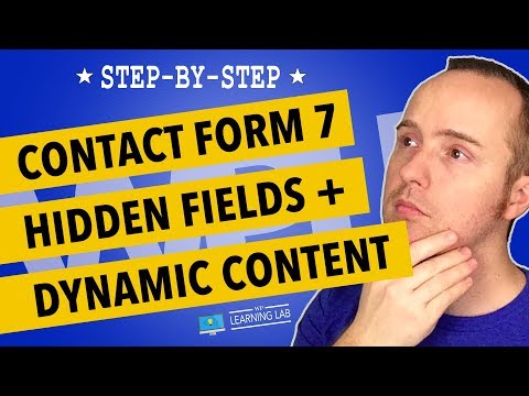 Adding Contact Form 7 Hidden Fields With Dynamic Data | Contact Form 7 Tutorials Part 6