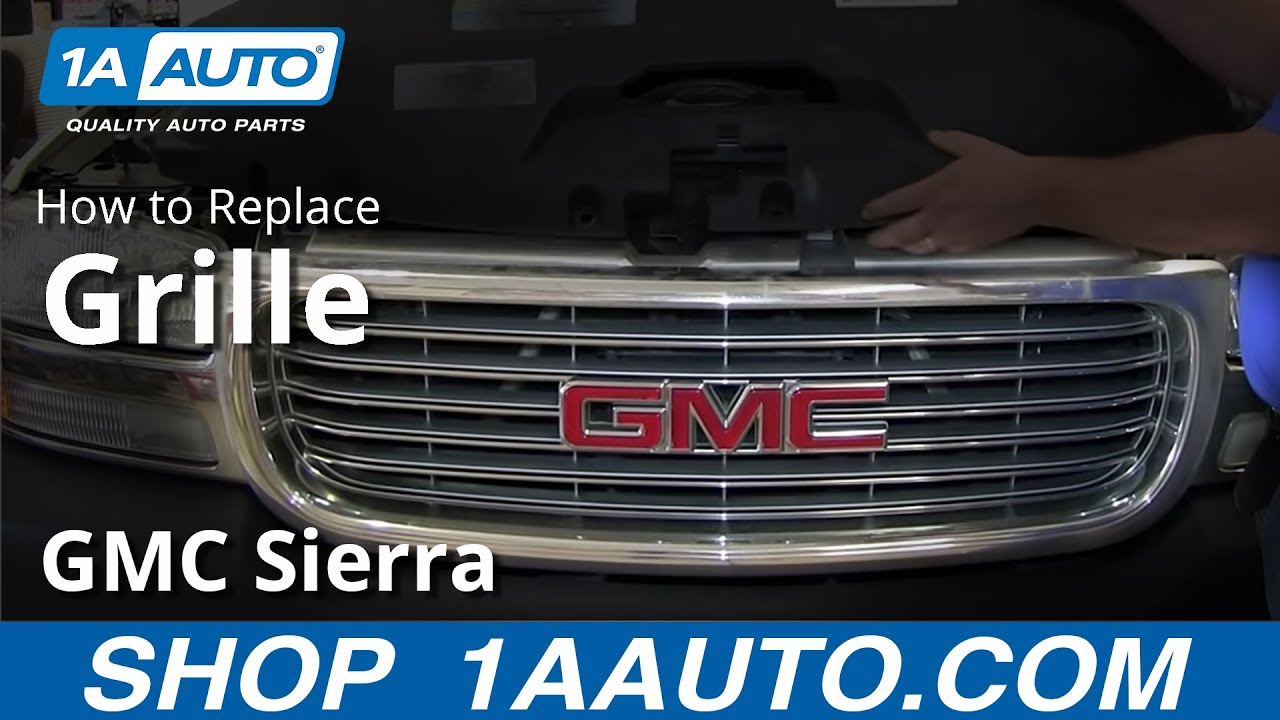 how to replace grille 99 02 gmc sierra 2500 youtube how to replace grille 99 02 gmc sierra 2500
