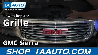 how to replace grille 99-02 gmc sierra 2500 - youtube  youtube