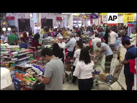 Doha residents stock up on food