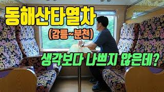 [기차여행] 강릉역~분천역 사이를 운행하는 동해산타열차…