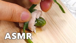 Pocket Cooking - Ham & Asparagus Roll-ups 4k Tiny Food Mini Food ミニチュア 料理 미니 요리 음식 ミニチュアクッキング