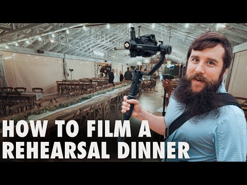 How To Film A Rehearsal Dinner | Wedding Filmmaking Behind The Scenes: Holly & Luke's Wedding Part 2