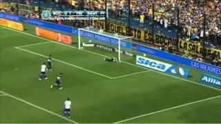 Riquelme y Paredes. Boca 2 - Tigre 1. Fecha 15. Torneo Inicial 2013.Fútbol Para Todos