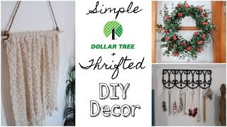 DOLLAR TREE & THRIFT STORE DIY | SIMPLE HOME DECOR | 2019
