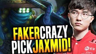 FAKER Goes CRAZY and Plays JAX Mid! - SKT T1 Faker SoloQ Playing Jax Midlane!   SKT T1 Replays thumbnail