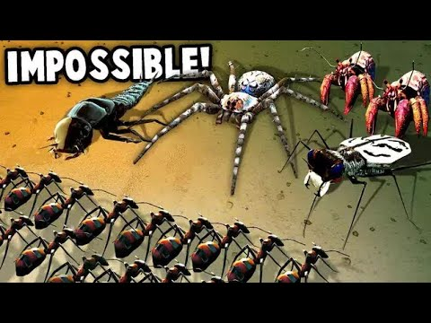 MASSIVE Bug Army!  This is IMPOSSIBLE!  (Empires of the Undergrowth Gameplay)