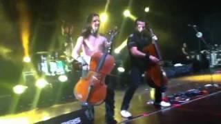 Concierto de Apocalyptica en Medellín 2012-01-21- Enter Sandman