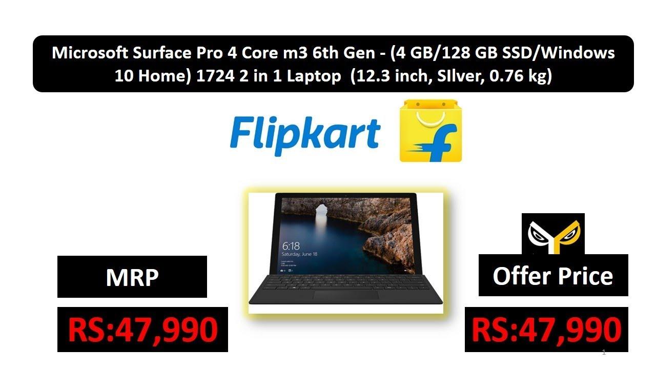 d7b11de3575 Microsoft Surface Pro 4 Core m3 6th Gen - (4 GB 128 GB SSD Windows 10 Home) 1724  2 in 1