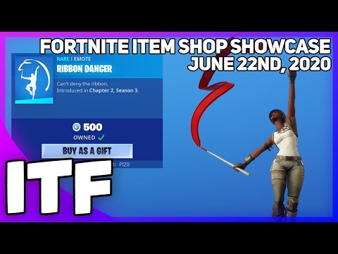 Fortnite Item Shop *NEW* RIBBON DANCER EMOTE! [June, 22nd, 2020] (Fortnite Battle Royale)