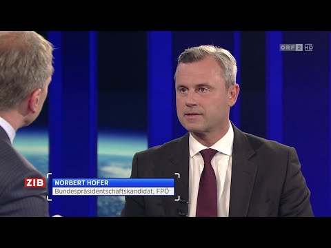 Norbert Hofer - ZIB 2 Interview 7.9.2016