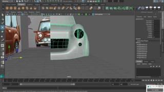 MAYA урок Моделирование мультяшного автомобиля часть 4