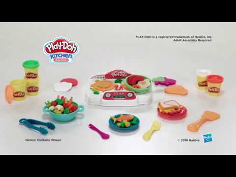 Play-Doh Kitchen Creations Sizzlin\' Stove Top - YouTube