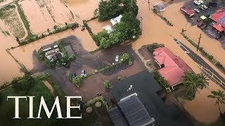 Hundreds Evacuated In Hawaii After 2 Feet Of Rain Triggers Flooding And Mudslides | TIME