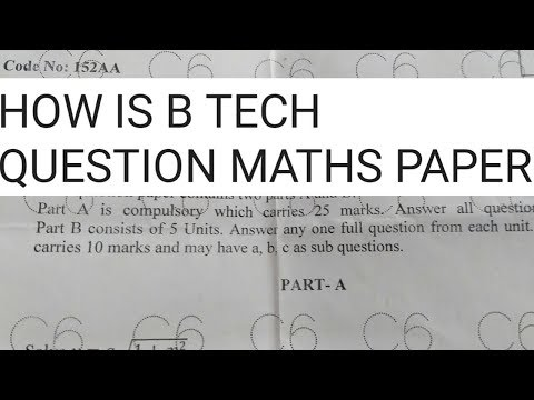 Maths Question papers of B tech , maths 2019 regular question papers