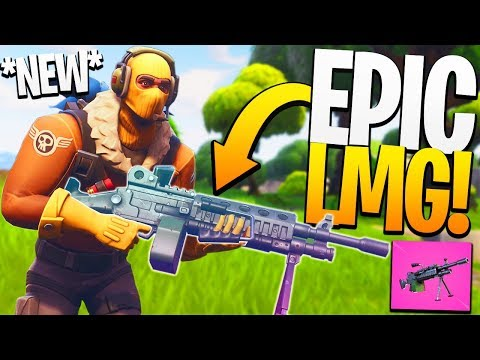 The *NEW* LMG is the BEST At This! - PS4 Fortnite BR NEW Gun!