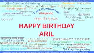 Aril   Languages Idiomas - Happy Birthday