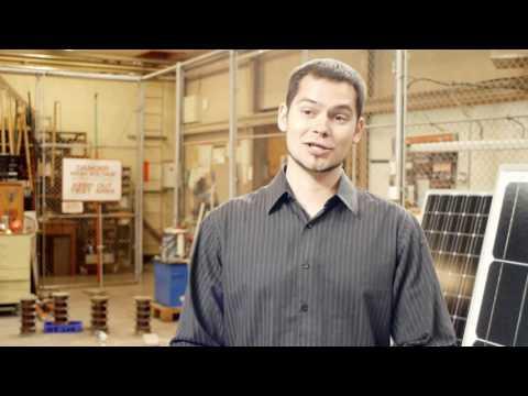 Solar panels for Tonga project - UC Engineering student, Vladimir