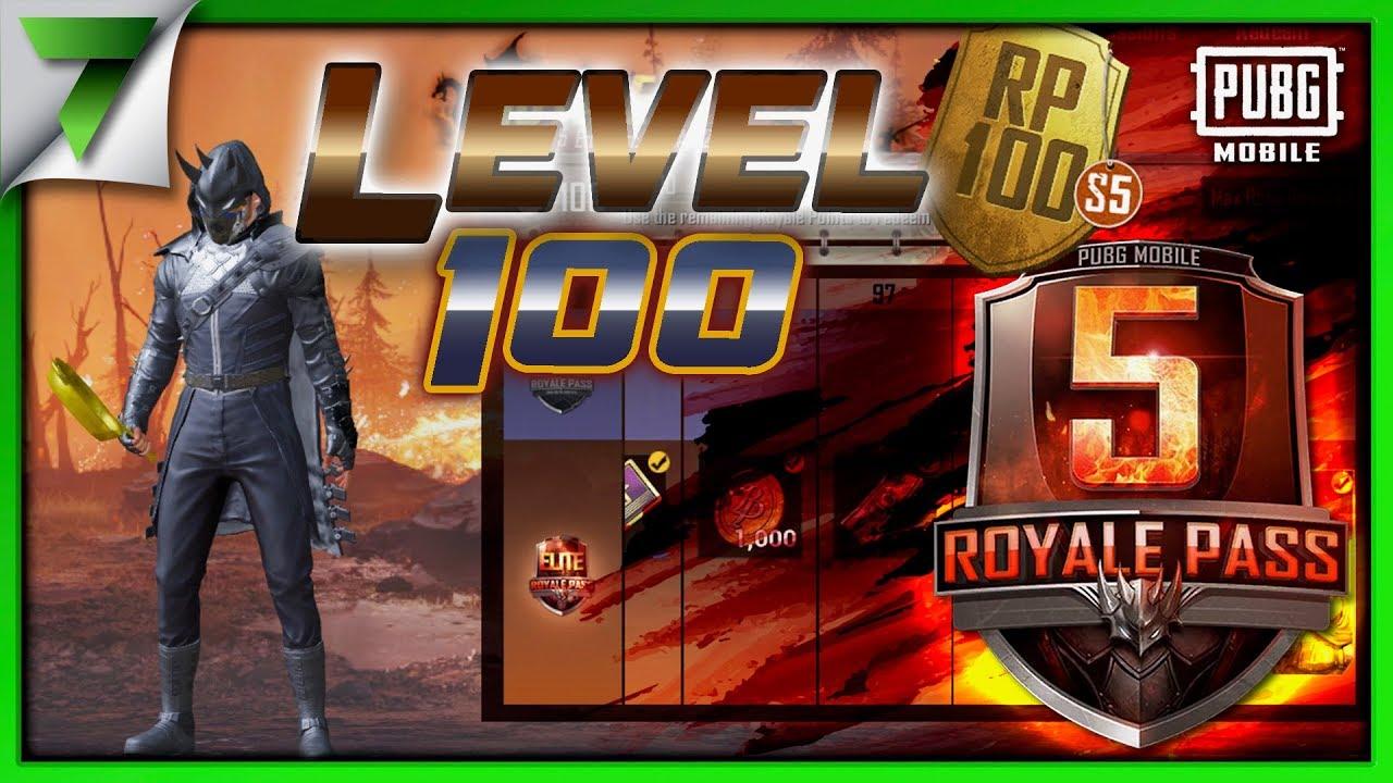 Season 5 Level 100 Elite Royale Pass Pubg Mobile