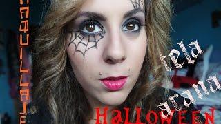 Halloween maquillaje tela de araña