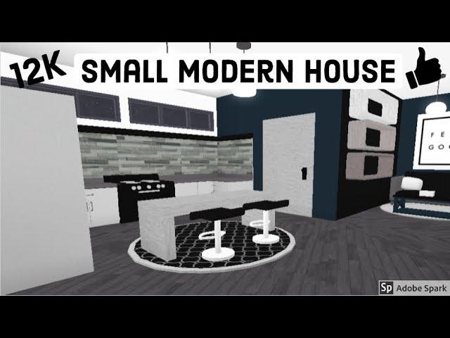 Small Modern House Roblox Bloxburg Bloxburg Small Modern House 12k Roblox Speed Build Youtube