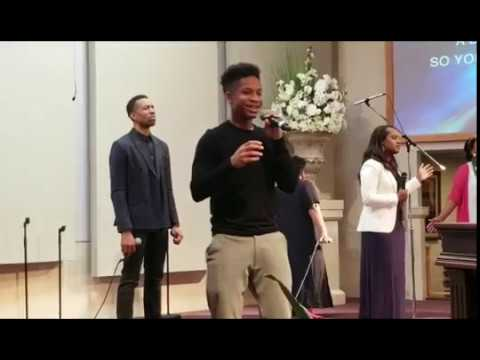 "16yr old Caleb Carroll & Tracy Bryant sing Cover of ""This Altar"" by Psalmist Rain & The Refresh Team"