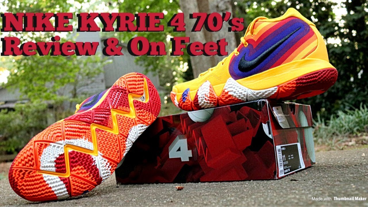reputable site 2ba39 54b4c NIKE KYRIE 4 70's DECADES PACK REVIEW & DOPE ON FEET!!