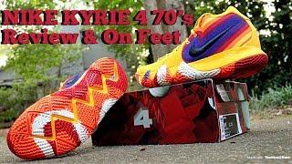 kyrie 4 90s on feet
