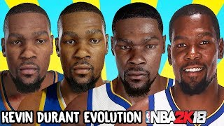 Kevin Durant Ratings and Face Evolution (College Hoops 2K7 - NBA 2K18)