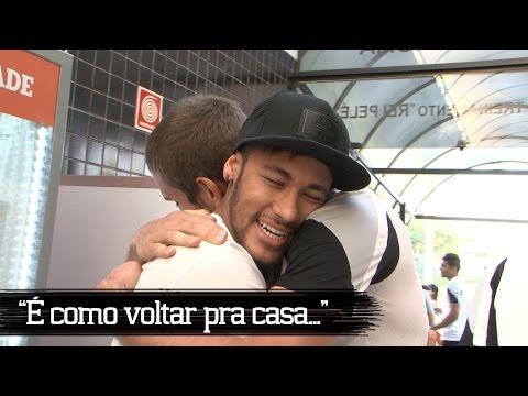 Neymar faz a festa com ex-companheiros do Santos!