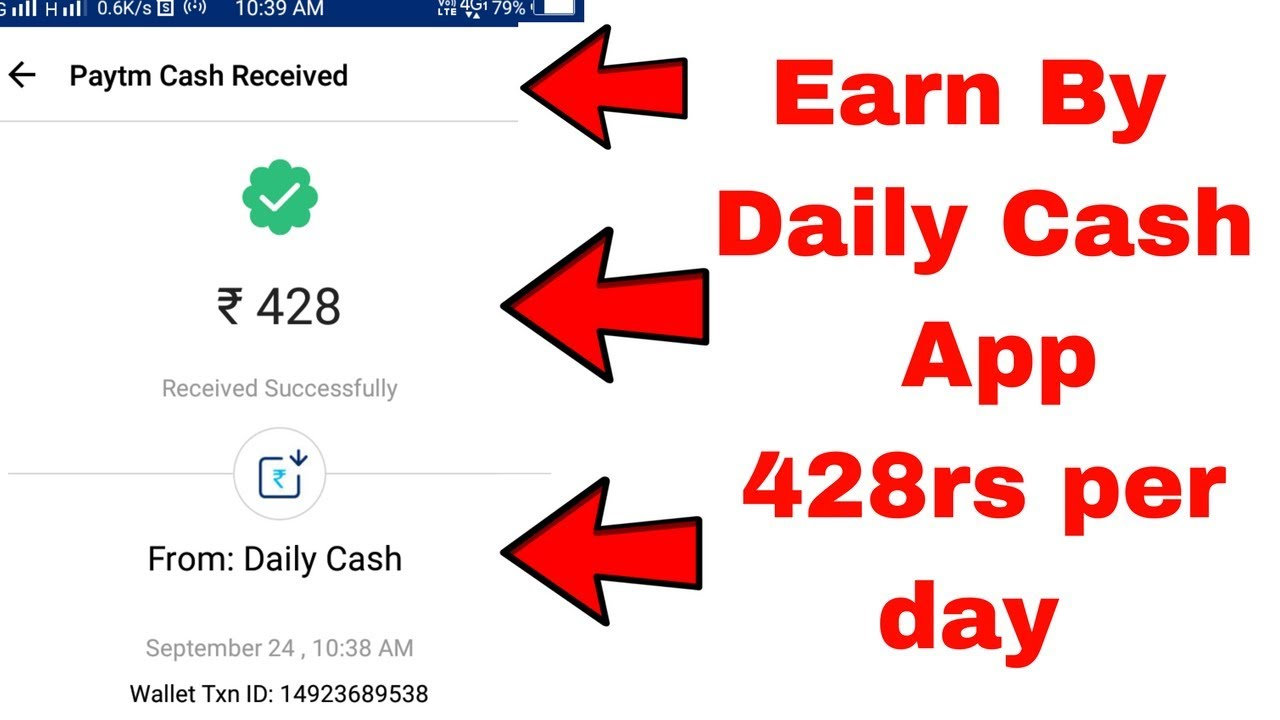 daily cash earn money using this app trick paytm proof hindi urdu