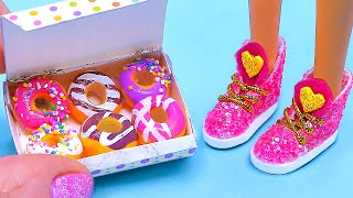7 DIY Barbie Hacks and Crafts ~ Barbie Shoes, Miniature Donuts and more