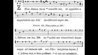 Zelus Domus Tuae, gregorian antiphon of Tenebrae