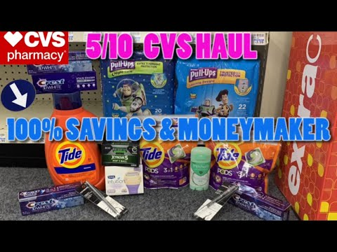 💸{100% SAVINGS} $0 + MONEYMAKER👉CVS Haul 5/10 + CVS Deals 5/10 + Learn How To Coupon at CVS🤑CVS 5/10