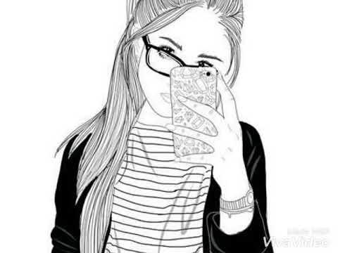 Красиво нарисованные девушки - YouTube