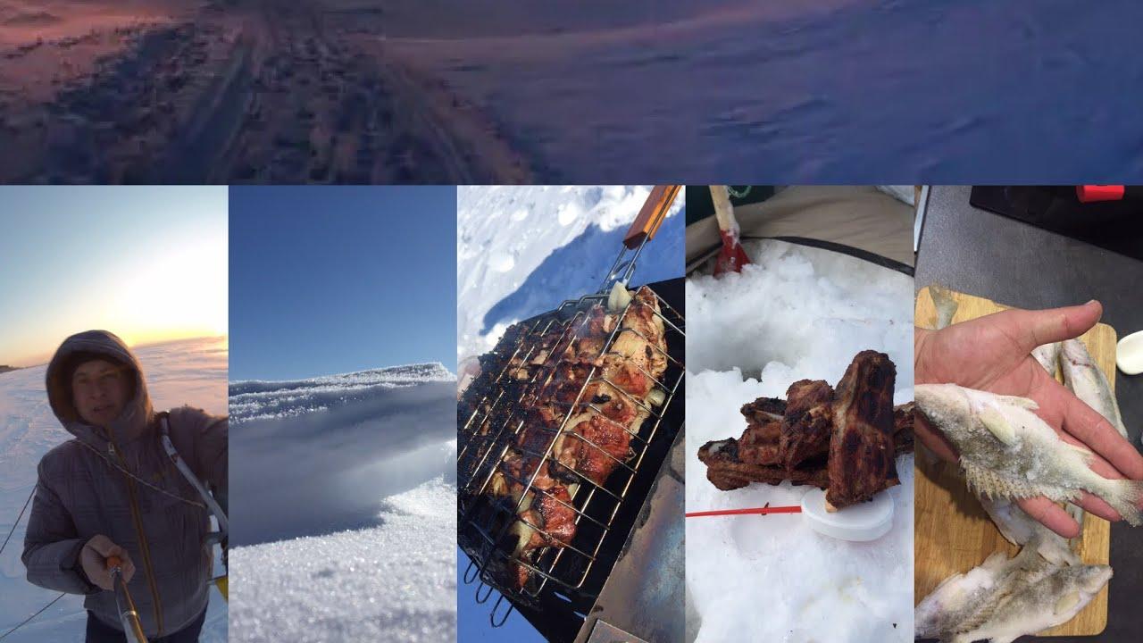 лед палатка шашлындос !Сибирская весна - рыба просыпается