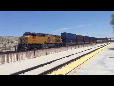 Railfaning at Palm Springs Station with patched SP, UP and CSX foreign power
