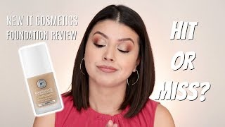 NEW!!! IT COSMETICS CONFIDENCE IN A FOUNDATION | REVIEW + WEAR TEST