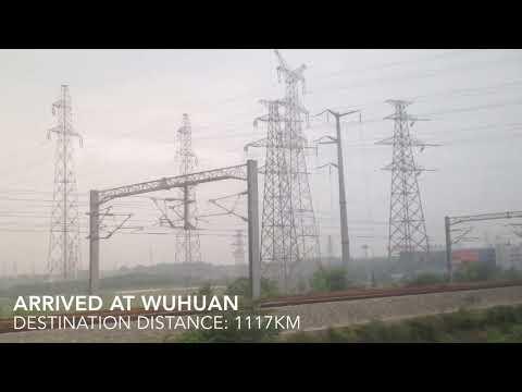 Beijing to Shenzhen high speed train CRH